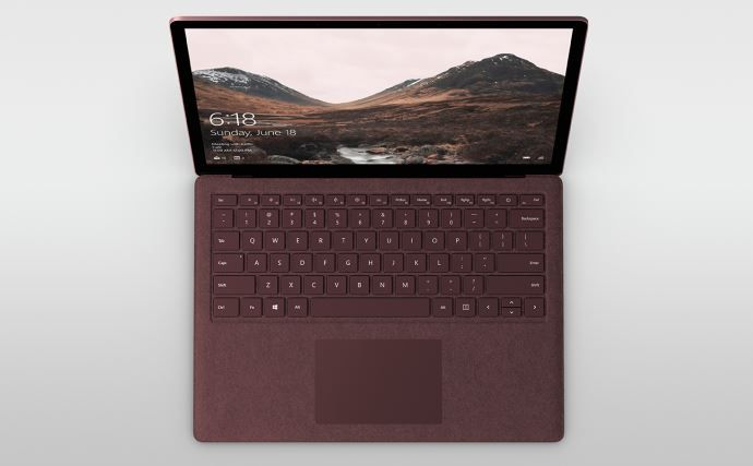 Microsoft says treat your Surface Laptop Alcantara fabric like a luxury handbag.JPG