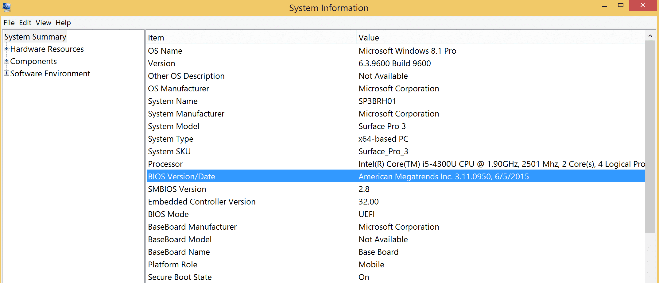 How to check actual Firmware UEFI version? | Microsoft Surface Forums