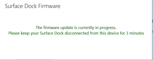 Microsoft Surface Dock update error | Microsoft Surface Forums