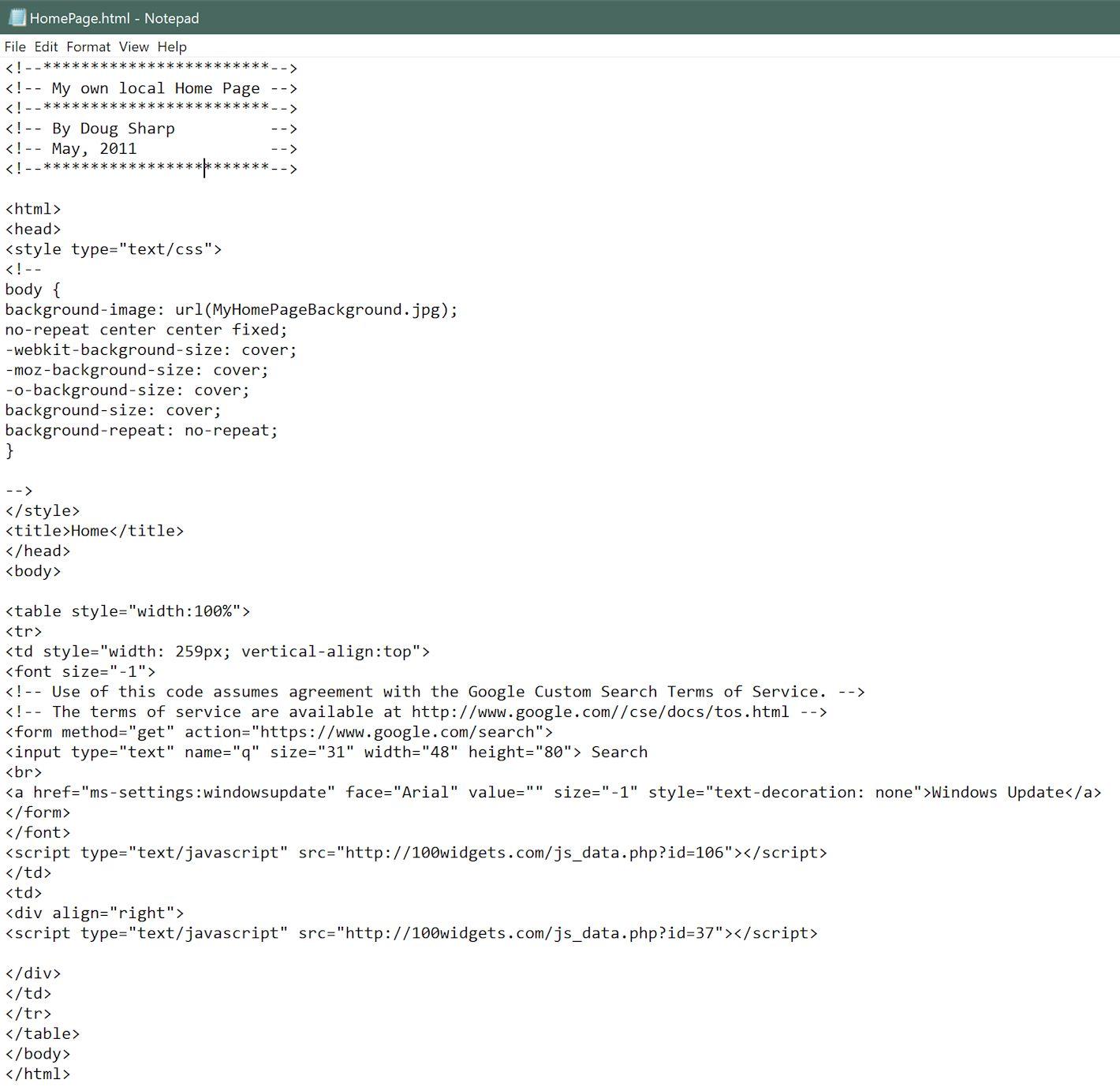 homepagewithclock.jpg