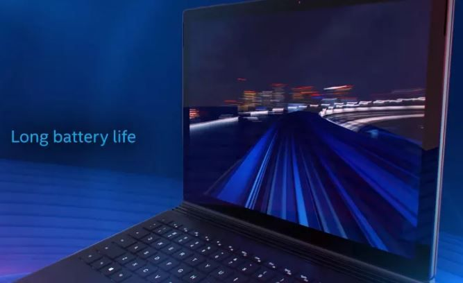 Intel teases new black Surface Book during new processor launch.JPG