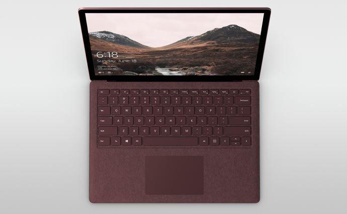 Microsoft says treat your Surface Laptop Alcantara fabric like a luxury handbag.JPG